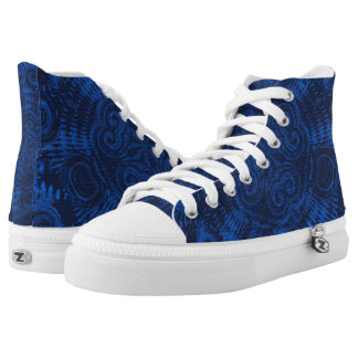 Blue Three Abstract High Tops