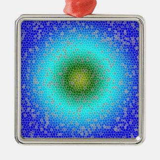 Blue through the net christmas ornament