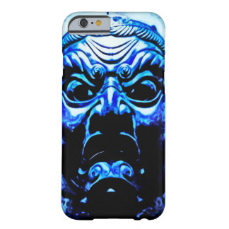 Blue Tibetan Demon Mask Airbrush Art Barely There iPhone 6 Case