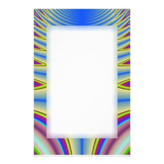 Blue Tie Dye Fractal Stationery