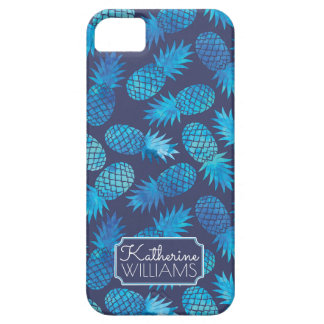 Blue Tie Dye Pineapples | Add Your Name iPhone 5 Covers