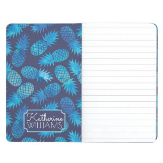 Blue Tie Dye Pineapples | Add Your Name Journals
