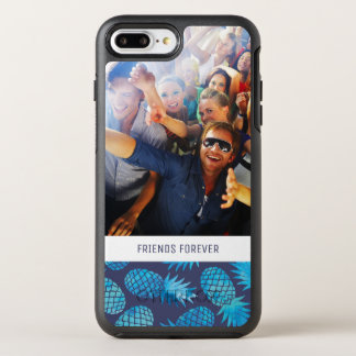 Blue Tie Dye Pineapples | Add Your Photo & Text OtterBox Symmetry iPhone 8 Plus/7 Plus Case