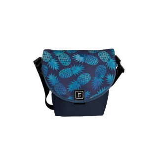 Blue Tie Dye Pineapples Commuter Bags