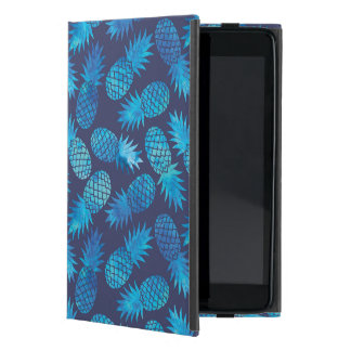 Blue Tie Dye Pineapples Cover For iPad Mini
