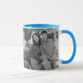 Blue Tie Dye Pineapples | Family Photos with Text Mug