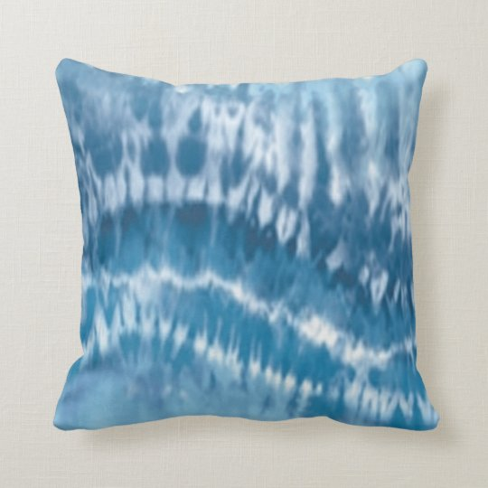 Blue Tie Dye Reversible Pillow