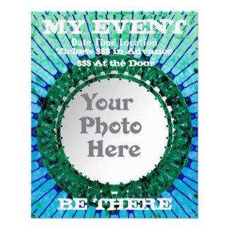 Blue Tiedye Photo Event Flyers