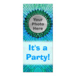 Blue Tiedye Photo Invitations 10 Cm X 24 Cm Invitation Card