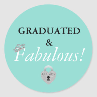 Blue Tiffany Graduation Celebration Stickers