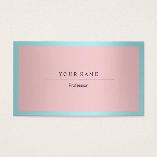 Blue Tiffany Ocean Frame Minimal Pink Metallic Business