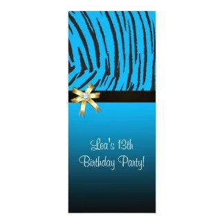 Blue Tiger Birthday Invitation