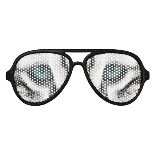 Blue Tiger Eyes Adult Aviator Party Shades