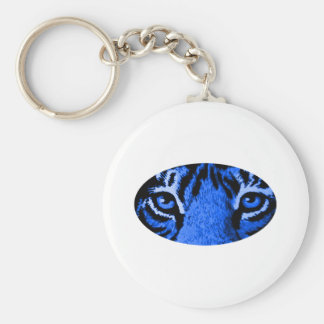 Blue Tiger Eyes The MUSEUM Zazzle Gifts Key Chain