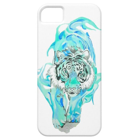 blue tiger iPhone 5 cases