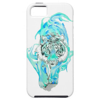 blue tiger iPhone 5 cover