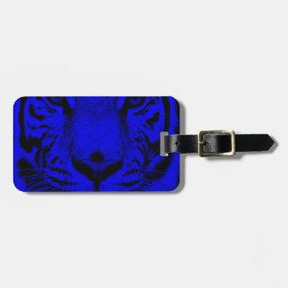 Blue Tiger Luggage Tag