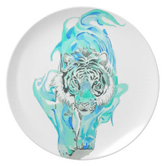 blue tiger plate
