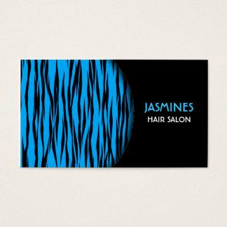 Blue Tiger Print Business Card