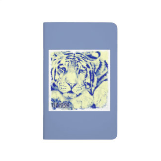 Blue Tiger print notebook
