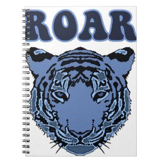 Blue Tiger Spiral Notebook
