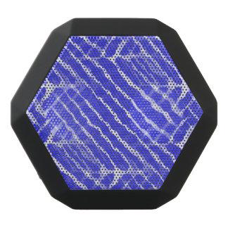 Blue Tiger Stripes Canvas Look Black Boombot Rex Bluetooth Speaker