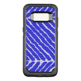 Blue Tiger Stripes Canvas Look OtterBox Commuter Samsung Galaxy S8 Case