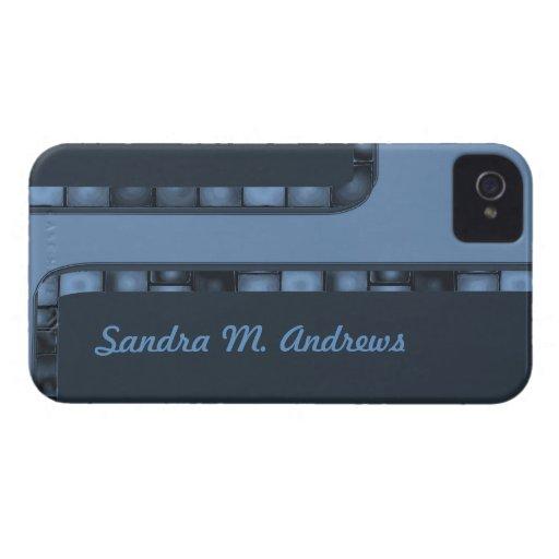 Blue Tile Border Case-Mate Blackberry Case
