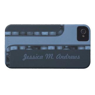 Blue Tile Border iPhone 4 Case-Mate Case