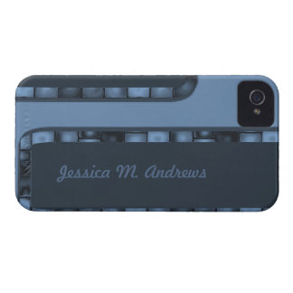Blue Tile Border iPhone 4 Cover