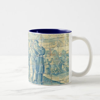 Blue tile (Full picture) Coffee Mugs