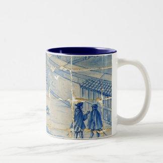 Blue tile (Full picture) Mugs