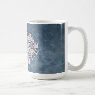blue tile mug mah jongg here joker