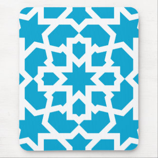 Blue tile of arabesque Moroccan and mosaic Mouse Mat