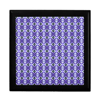 Blue Tile Pattern Gift Box