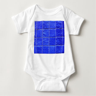 Blue tiles background baby bodysuit
