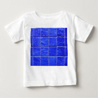 Blue tiles background baby T-Shirt