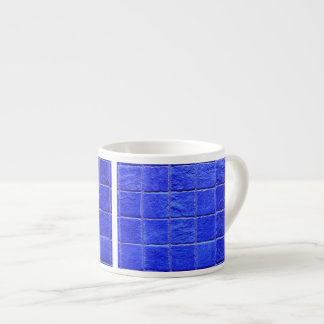 Blue tiles background espresso cup
