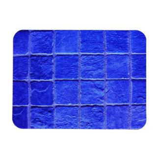 Blue tiles background magnet