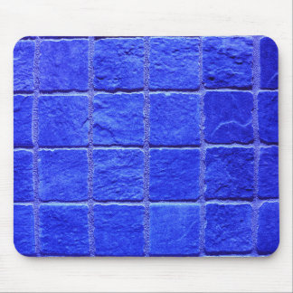 Blue tiles background mouse mat