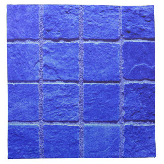 Blue tiles background napkin