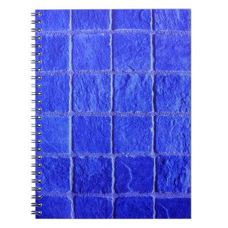 Blue tiles background notebook