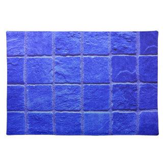 Blue tiles background placemat