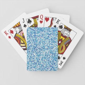 Blue tiles background poker deck