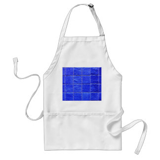 Blue tiles background standard apron