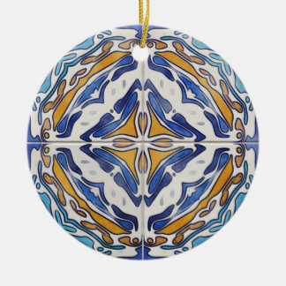 Blue Tiles Christmas Ornament