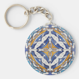 Blue Tiles Key Chains