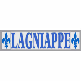 Blue Tiles Lagniappe Standing Photo Sculpture