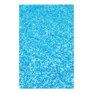Blue tiles pattern 14 cm x 21.5 cm flyer