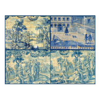 Blue tiles post cards